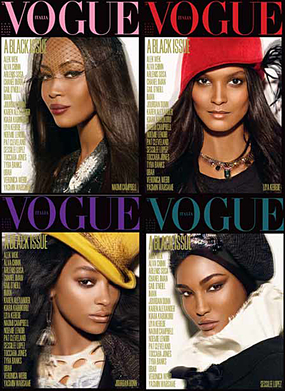 black issue Vogue Italia