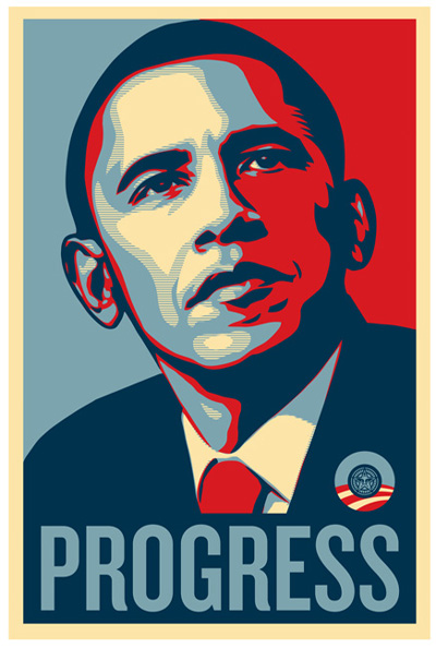 progress poster of Obama