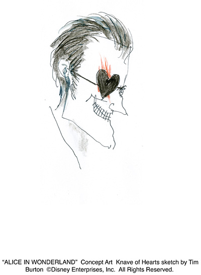 Knave Head, Sketch by Tim Burton