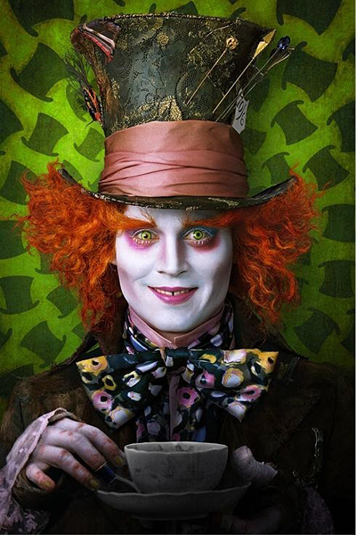 "Johnny Depp as Mad Hatter from ""Alice in Wonderland"" by Tim Burton"