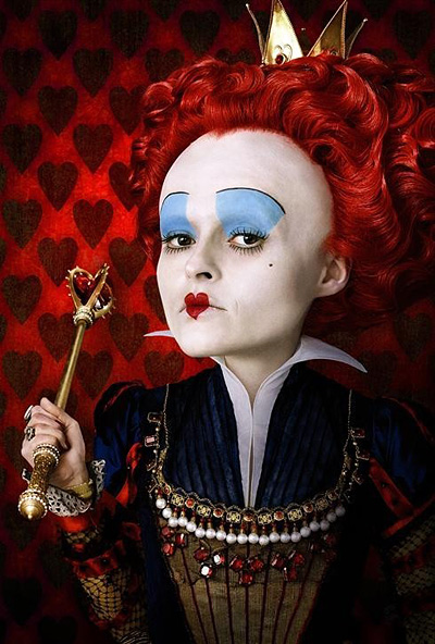 "Helena Bonham Carter as Red Queen from ""Alice in Wonderland"" by Tim Burton"
